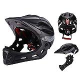 Saihua Abnehmbarer Helm, Sportvollhelm mit Warnlichtschutzhelm Integriertes Insektenschutznetz