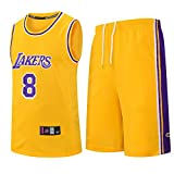 Kinder Jungen Mädchen Männer Erwachsene NBA LBJ LA Lakers, Sommer Basketball Jersey mit kurzen...