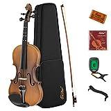 Eastar Violine 4/4 Set Anfänger Geige Kinder mit Lernpunkt mit Bogen Geige Brücke und Saiten Matt...