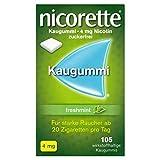NICORETTE Kaugummi 4mg freshmint – Nikotinkaugummi zur Raucherentwöhnung – Minzgeschmack –...