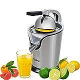 OZAVO Zitruspresse elektrisch, Orange Saftpresse mit Hebelarm, Citrus Juicer fr frische...