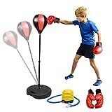 Abree Punchingball Boxen Set mit Boxhandschuhen Pumpe für Kinder Jugend höhenverstellbar von 80...