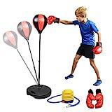 Abree Punchingball Boxen Set mit Boxhandschuhen Pumpe fr Kinder Jugend hhenverstellbar von 80 bis...
