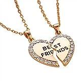 Beste Freunde Farbe Gold Schmuck Zubehör Freundschaftskette Anhänger Halskette Halskette für...