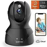 Wlan IP Kamera,KAMTRON HD WiFi berwachungskamera,mit 350/100Schwenkbar,Home und Baby Monitor mit...