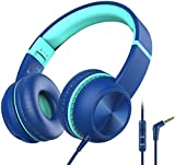Kopfhörer Kinder, iClever Kopfhörer für Kinder, Lautstärkenbegrenzer mit Mikrofon, Faltbar,...