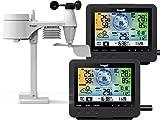 froggit WH5500 Twin (2 Displayeinheiten) professionelle Wi-Fi Internet Funk Wetterstation