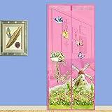 happyhouse009 Windmühle Schmetterling Garten Magnetvorhang Tür Anti Fliegen Insekt Hände frei...