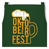 Shirtracer Oktoberfest & Wiesn Schürze - Oktobeerfest Bier - 60 x 87 cm (B x H) - Dunkelgrün -...