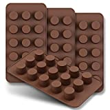 homEdge Mini-Schokoladenform, 15 Mulden, Set mit 4 Stück, antihaftbeschichtet, lebensmittelechtes...