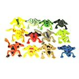 TOYMYTOY 12 stücke Kunststoff Mini Frösche Spielzeug Simulation Tropische Frosch Figur Modell...
