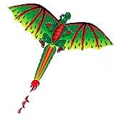 Qomomont 3D Dragon 100 Mt Kite Single Line Mit Schwanz Drachen Outdoor Fun Spielzeug Kite Familie...