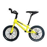JLXJ Laufräder Lauflernrad Großes Kind Training Balance Bike mit Bremsen, No-Pedal 16 Zoll...