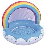 Libetter Baby Pool, Kinderpool Planschbecken Schwimmbecken mit Baldachin Sonnenschutz, Aufblasbares...