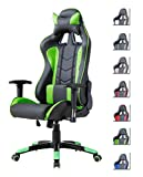 Delman Gaming Stuhl Bürostuhl Racing Stuhl Gamer Ergonomischer Stuhl Einstellbare Armlehne...