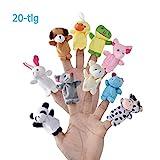 LivDeal Fingerpuppen [20-TLG]Baby Mitgebsel Kindergeburtstag Finger Plüschtier Set Jungen und...