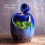 HONIC 110V / 220V kreative Wasser-Brunnen Keramik Blumentopf Bonsai Luftbefeuchter Heim Feng Shui...