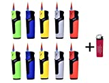 Sturmfeuerzeuge Turbo Jetflame Nachfüllbar Elektronik Feuerzeuge Flameless Lighter (10) + gratis 1...