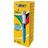 BIC 4 in 1 4-Farb-Druckkugelschreiber Grip (Dokumentenecht, mit Gummi-Griffzone, Nachfüllbar,...