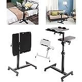 Stehender Notebook/Computertisch auf drehbaren Rädern, ergonomischer, verstellbarer Ständer für...