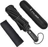 FYLINA Regenschirm Taschenschirm Voll-automatischer 9 Ribs Winddicht Kompakt Leicht Stabiler Schirm...