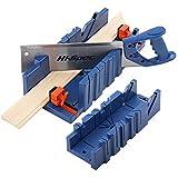 noone Gehrungssäge Box Holzbearbeitung Klemmhand Gehrungskasten mit 45° 90° Winkelschlitzarten...