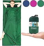 Miqio® 2in1 Hüttenschlafsack mit durchgängigem Reißverschluss (Links oder rechts): Leichter...