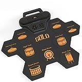 YYEWA 9 Pads Elektronisches Schlagzeug, Aufrollbares und tragbares Schlagzeug-bungspad mit...