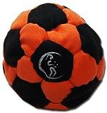 Pro Hacky Sack 32 Paneelen (Schwarz/Orange) Profi Freestyle Footbag! Hacky Sack für Anfänger und...