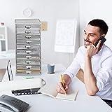 Relaxdays, Silber Schubladenbox, 10 Schubfcher, fr Din A4 Dokumente, Ordnungssystem fr Schreibtisch,...