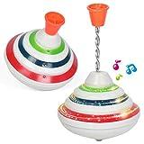 ISAKEN Musik Kreisel Spielzeug, Gyro Toy mit LED Glänzende Spielzeug Brummkreisel, Schwungkreisel...