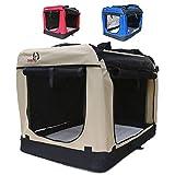 Hundetransportbox faltbar Transportbox für Hunde Hundebox Auto - Dogi Kennel - 6 Größen - 3...