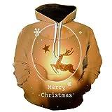 x8jdieu3 Herbst und Winter Kleidung Weihnachten Kleidung 3D Digitaldruck Größe Paare Pullover...