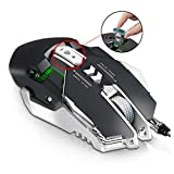 HWUKONG Gaming Mouse Wired, RGB Tunable Gaming Mouse, 12-Fach Einstellbare DPI 4000 DPI On-The-Fly...