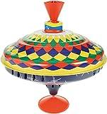 Lena 52225 Bolz Brummkreisel Multicolor 19 cm, Schwungkreisel aus Blech, klassischer Pumpkreisel,...
