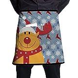 Just Relax Shop Rudolph Rentier Weihnachtsschürze für Herren und Damen, halbe Kurze Taille, 53,3 x...