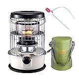 Paceco Kerosin lheizkrper, Glasbrenner, Winter, Outdoor, Camping + Ofenbeutel-Set (zufllige Farbe) +...
