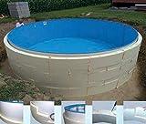 Summer Fun Beckenverschalung (kein Beton notwendig) fr Rundpools mit breitem Handlauf 3,50m x 1,20m