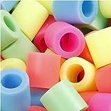 Bügelperlen, Größe JUMBO mm, Größe 10x10 mm, Pastellfarben, 3200sort, Lochgröße 5,5 mm