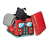 Relaxdays Faltbare Spielzeugkiste Feuerwehr HBT 32 x 48 x 32 cm stabiler Kinder Sitzhocker als...