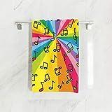 N/A Towel Bunte Regenbogen-Musiknoten, pflegeleicht, leicht und ultra saugfähig,...