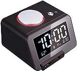 Yzllq C1 Pro Wecker mit Bluetooth-Radiolautsprecher, Universal-USB-Ladegerät mit 2 Anschlüssen,...