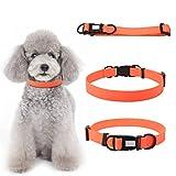 Hundehalsband aus PVC Wasserdichte Hundehalsbnder Einstellbar Haustier Halsband Klassische...