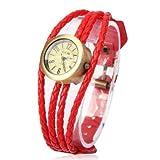 Fashion Watches Dfch Quarz-Armbanduhr mit Lederband