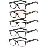 Suertree Lesebrille 5 Pack Brillen Scharnier Lesebrillen Sehhilfe Augenoptik Brille Lesehilfe für...
