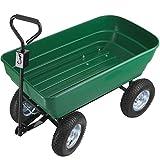 TecTake 403577 Handwagen mit Kippfunktion, 125 Liter, leichtgängige Lenkachse, luftgefüllte...