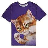 MAYOGO Cat Tshirt Herren Kurzarm Summer 3D Tshirt Fun Shirts Herren Lustig T Shirt für Männer Cat...