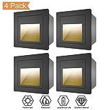 WZOED Wandeinbauleuchte LED Aluminium 4er Treppenlicht Stufenleuchte Aktzentbeleuchtung Flaches...