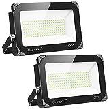 Onforu 2er 100W LED Strahler, 10000LM Superhell LED Fluter, Flutlicht Auenstrahler IP66 Wasserdicht,...