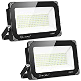 Onforu 2er 100W LED Strahler, 10000LM Superhell LED Fluter, Flutlicht Außenstrahler IP66...